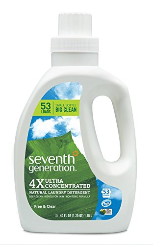 Seventh Generation Liquid Laundry 4x, Free and Clear, 40 Fl Oz. 2 Count (Packaging May Vary)