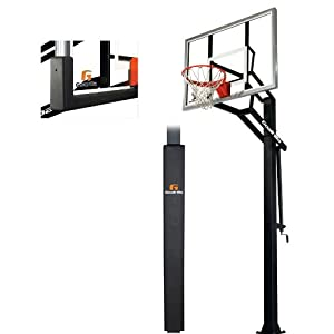 Goalrilla GLR GSIII 54 Basketball System with Pole Pad and Universal Pole Pad by Goalrilla