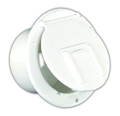 JR Products Round Electric Cable Hatch with Back