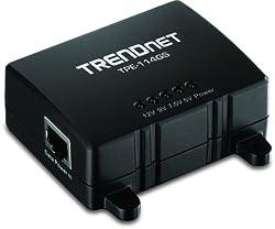 TRENDnet Gigabit Power over Ethernet (PoE) Splitter TPE-114GS (Black)