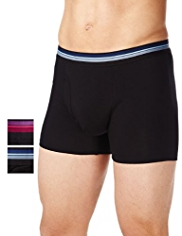 2 Pack Autograph Modal Blend Striped Waistband Trunks