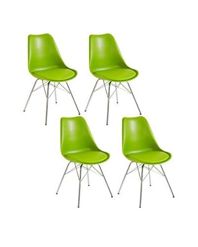 13 Casa Set Silla 4 Uds. Brigitte B7 Verde