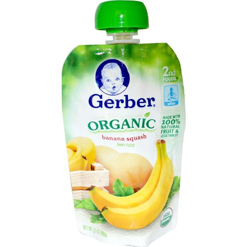 Gerber, 2nd Foods, Organic, Baby Food, Banana Squash, 3.5 oz (99 g)