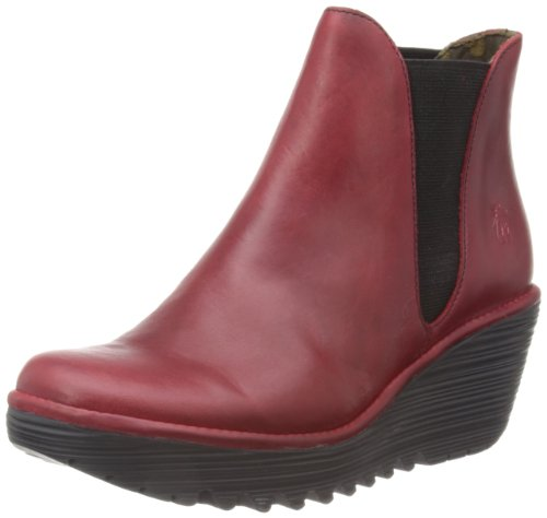 Fly London Womens Yoss Red Boots P500431013 4 UK, 37 EU
