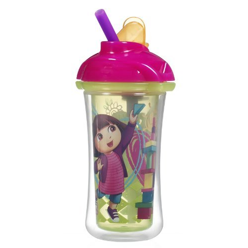 Munchkin Dora The Explorer Click Lock Insulated Straw Cup (Colors May Vary) front-549548