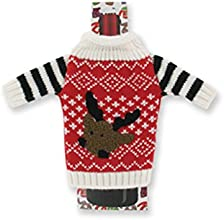 Ugly Sweater Knitted Wine Bottle Covers - quotUncle Bob39s Ugly Sweaterquot - Reindeer Face