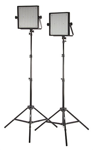 Studiopro Double 600 S-600D Led Photography Lighting Panel And Light Stand Kit, Continuous Daylight, Photo Studio Video Film Lighting Kit (Barndoors Are Sold Separately)