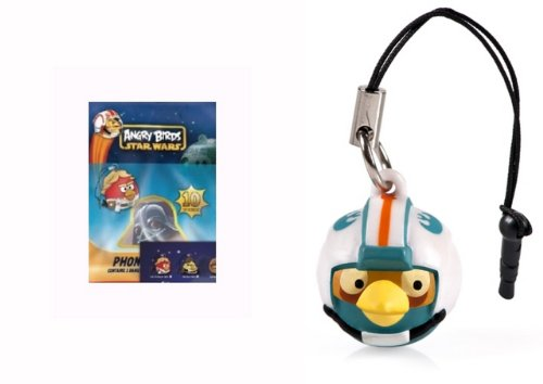 Angry Birds Star Wars REBEL PILOT Blue Bird Phone Dangler - 1