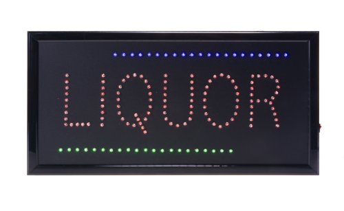 Displays2Go Liquor Led Sign, Red/Blue/Green (Ledfslqr01)