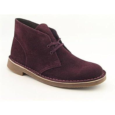 Clarks Bushacre 2 Mens Size 10.5 Red Boots Desert Regular Suede Desert Boots