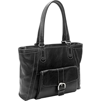 eBags Laptop Collection Soho Deluxe Leather Laptop Tote (Black)