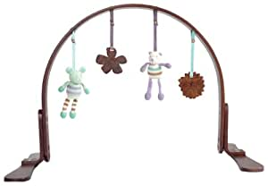 Finn + Emma Organic Cotton Baby Girl Wood Play Gym - Flower Dark (Discontinued by Manufacturer)