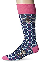 per pedes Men's No Monkey Business Dress Sock, Navy, One Size