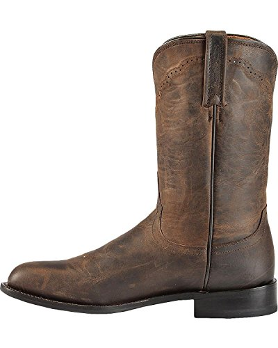 e133d993734 Lucchese Men's 1883 Madras Goat Roper Boot Round Toe Chocolate US | $144.71  - Buy today!