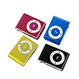 Sunweb Mini Fashoin Clip Metal USB MP3 Music Media Player Support 1 - 8GB Micro SD TF Random Delivery