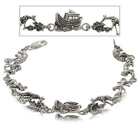 Noah's Ark Christian Bracelet in Sterling Silver