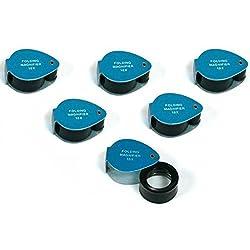 6 Gemologist Loupes 10 X Magnifier Eye Piece Tools
