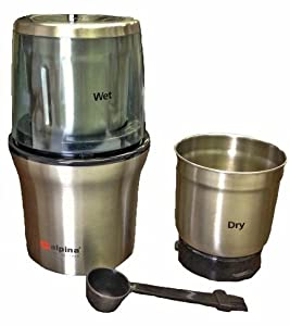Alpina SF-2815 New Electric Stainless Steel Wet and Dry Double Bowl Coffee Grinder Also... by Alpina