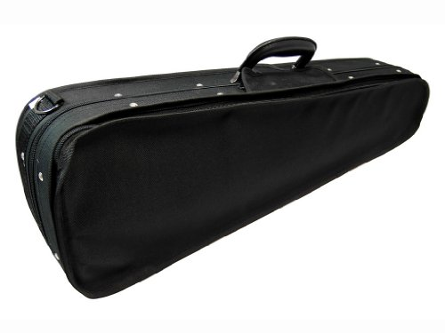 D'Luca PE04 Wooden Shaped Violin Case Burgundy - 3/4