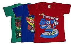 Boys T-Shirt pack of three Round Neck - Cotton - Shorts Sleeve by Arshia Fashions