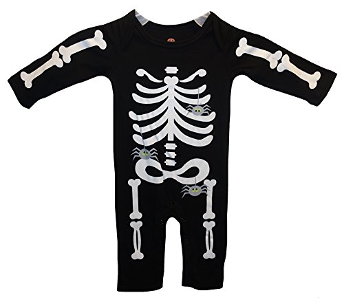 Baby Boys' Girls' Halloween Skeleton & Spiders Dress Up Costume Outfit