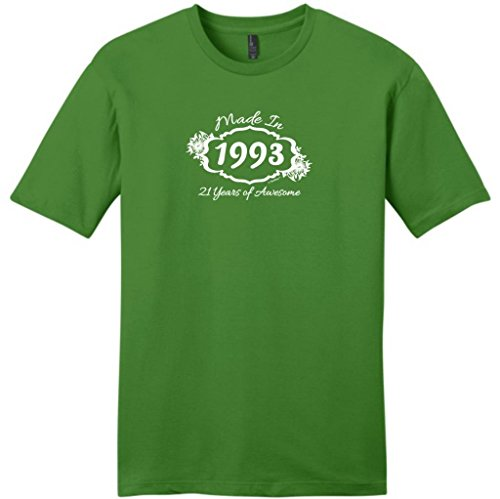 Made In 1993 21 Years Awesome Funny 21St Birthday Young Mens T-Shirt 3Xl Kiwi Green front-185018