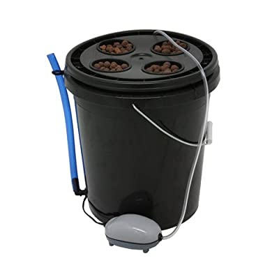 Viagrow 4-Site Hydroponic Deep Water Culture Vegetative System, Black