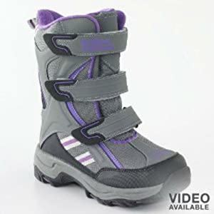 Totes Childrens girls toddler waterproof shell purple & grey Snow Winter Boots... by Totes