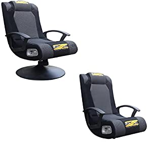 BraZen Stag DUO 2.1 Surround Sound Gaming Chair - Grey by BraZen