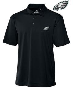 Philadelphia Eagles Mens Drytec Genre Polo Black by Cutter & Buck