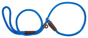 Mendota Products Dog Slip Lead, 3/8-Inch by 6-Feet, Blue