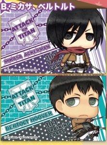Giant Sticker Set / B Mikasa u0026 Bertolt of march
