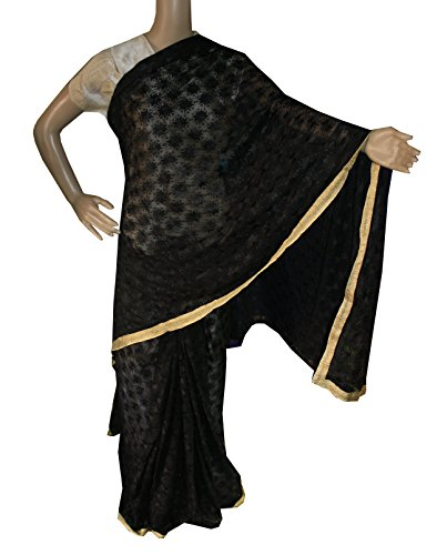 Beautiful RUDA Designer Phulkari Embroidered Saree-JS1118