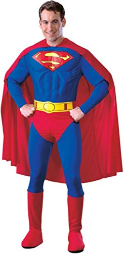 Morris Costumes Men's Superman Adult Muscle Deluxe Costume, Small