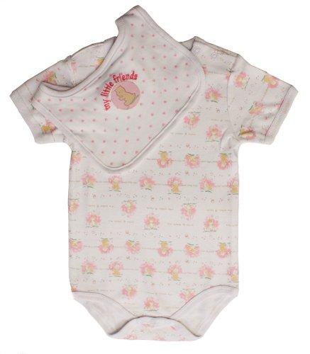 Baby Vest/Bib Set Pink Newborn