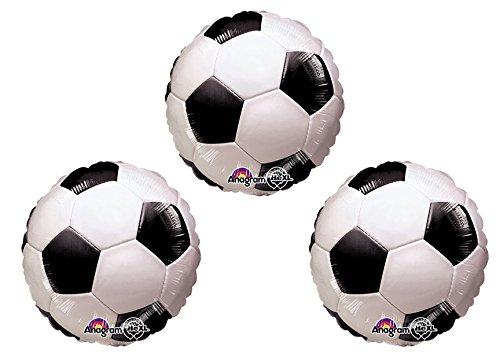 """Soccer Ball 18"""" Mylar Balloon 3pk"""