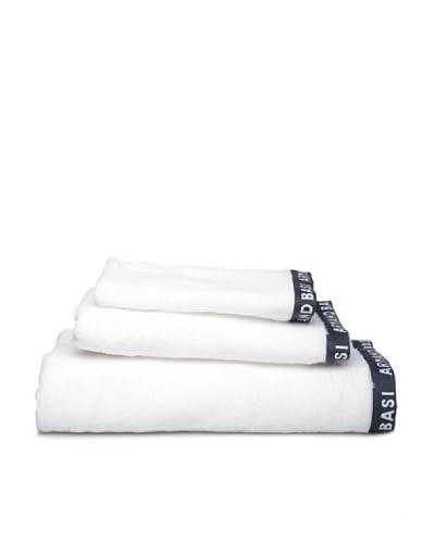 Armand Basi Estuche de toallas Logo Logo Blanco