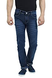 Sloper Dark Blue Narrow Fit Jeans For Men