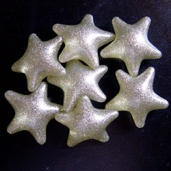 Bath Bead Silver Star (Bag of 20) - Wedding Favor