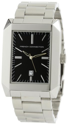 French Connection Men's FC1032B Stainless Steel Square Case Watch