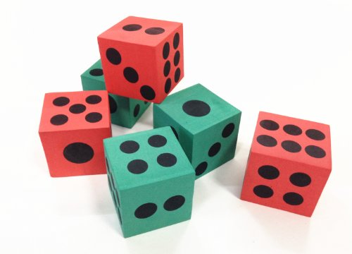 Dazzling Toys Big Foam Playing Dice - 12 Pack (D060)