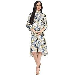 Bhama Couture Green Blue Multicolour Short Dress