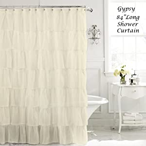 Image Result For Cream Colored Ruffled Shower Curtain