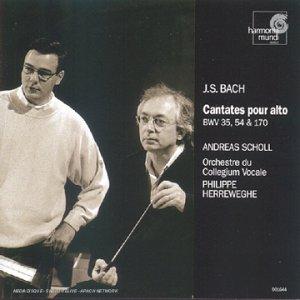 Cantates pour alto, BWV 35, 54 & 170