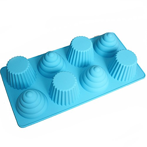 X-Haibei Great Ice Cream Cone Cupcake Soap Pan Bakeware 8-cavity Tray (Cone Cupcakes compare prices)