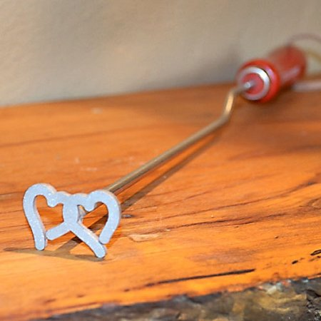 Double Hearts BBQ Branding Iron