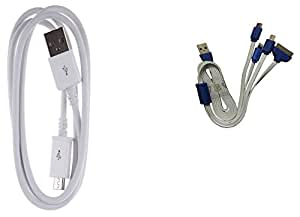 1 Meter V8 White & 4-IN-1 CHARGING CABLE