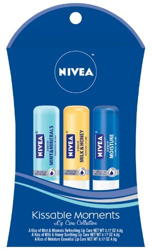 Nivea Lip Care 3 Piece Gift Set 2012, Moments