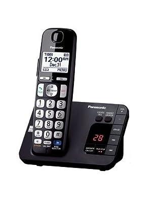 Panasonic KX-TGE230B DECT 6.0 Expandable Digital Cordless Answering System, 1 Handset, Black (Certified Refurbished)