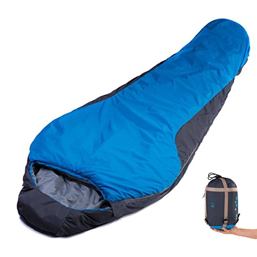 CAMTOA Impermeabile Caldo Sacco a pelo ,Ultraleggero Sleeping Bag (1900 + 300) x 830 mm , Contro il vento per 4 stagioni, Ideali Per Campeggio,Escursionismo , Pesca all'aperto Blu